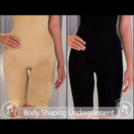 Comfort Slimming Undergarment Body Shaper Size M 2Pcs Black and Beige