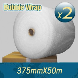 2 x Bubble Wrap 375mm X 50m