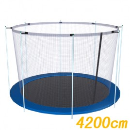 Trampoline Replacement Safety Net 16FT Netting 10 Poles