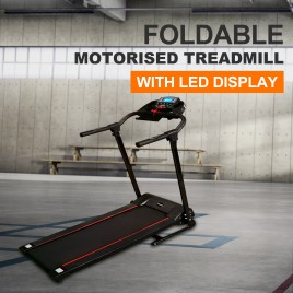 Electric Fordable Exercise Treadmill Running Machine W/LED Monitor Tablet Holder