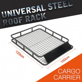 1.23M Square Tubular Universal 4WD Roof Rack/ Car Top Basket Luggage Carrier Holder