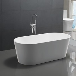Bathroom Free Standing Bath Tub 1720x820x600 Thin Edge Freestanding (Allure-1720)
