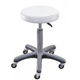 White Salon Stool Chair Hydraulic Adjustable Barber Stool Tattoo Equipment (No Box)