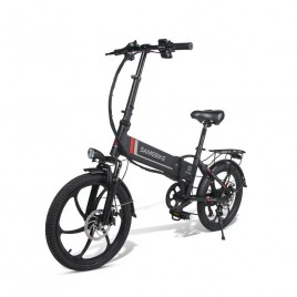 20 Inch SAMEBIKE Folding Electric Bike Bicycle Scooter E-scooter E-bike 350W Motor 10.4Ah 48V Battery Max 35 KPH Black