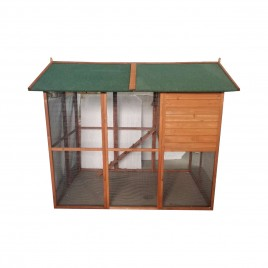 Huge Walk in Chicken Coop Chock Pens Hen House L202x H170xD175cm with Nesting Box