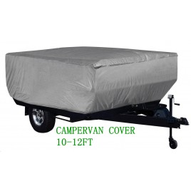 4 Layer HEAVY DUTY CAMPERVAN CAMPER TRAILER COVER 10-12FT 365x220x120H cm