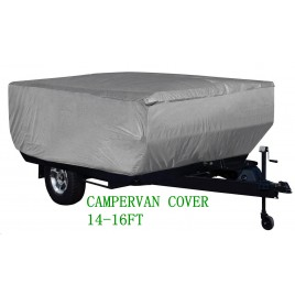 4 Layer HEAVY DUTY CAMPERVAN CAMPER TRAILER COVER 14-16FT 490x220x135H cm