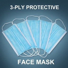 20 Pack 3-PLY Protective Disposable Face Mask (Free Shipping)