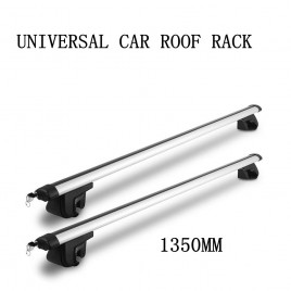 1350mm Universal Car Roof Rack Cross Bars Aluminum Alloy Aero Lockable