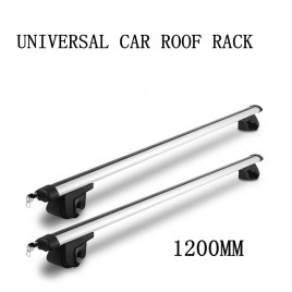 1200mm Universal Car Roof Rack Cross Bars Aluminum Alloy Aero Lockable