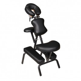 Professional Portable Tatto Massage Chair Black Leather