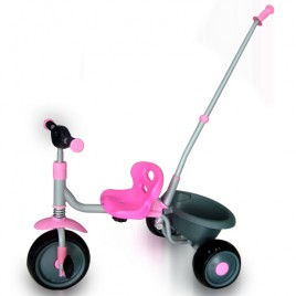 Kids Tricycle With Parental Control and Bucket Pink