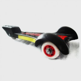 ONNE 3 Wheels Streetboard Caster Board Skateboard Red