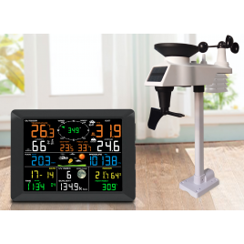 Solar Powered Professional WiFi Wireless Weather Station with Display 0310 Free Shipping