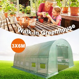 6m x 3m Walk-in Polytunnel Greenhouse (Brisbane Sale)