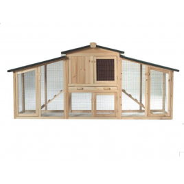 Weatherproof Chicken Coop Hen House Rabbit Hutch with Removable Tray