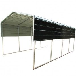 Metal Carport Shelter 3.3x6M Green