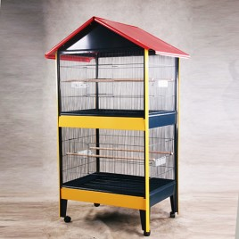 Double Stories Pitched Roof Aviary Bird Cage