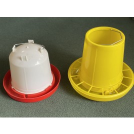 Large Chicken Poultry 6kg Feeder and 6L Water Drinker Set