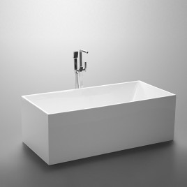 Bathroom Acrylic Free Standing Bath Tub Thin Edge 1500 x 750 x 600 Freestanding (linea Box)