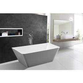Bathroom Acrylic Free Standing Bath Tub Thin Edge 1500 x 750 x 600 Freestanding (linea slim)