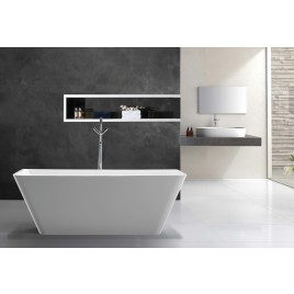 Bathroom Acrylic Free Standing Bath Tub Thin Edge 1700 x 800 x 600 Freestanding (linea Slim)