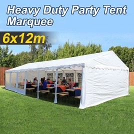 Commercial Grade Galvanised Frame Marquee Heavy Duty 6x12m Party Tent