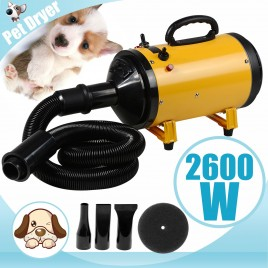 2600W Dog Cat Pet Dryer Grooming Heater Blaster Hair Blower 3 Nozzles