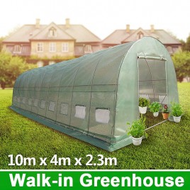 10m x 4m Galvanised Frame Walk-in Polytunnel Greenhouse