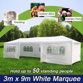 Wedding Gazebo Outdoor Marquee Party Tent 3m x 9m White Cooper (Melbourne Stock)