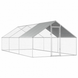 Walk-in 6X3X2M Steel Chicken Coop Run Enclosure Poultry Cage