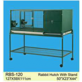 Raised on Castor Rabbit Cage Guinea Pig Hutch with House Box