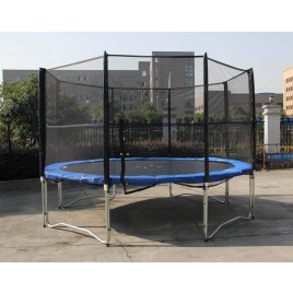 12FT Trampoline And Enclosure Set with Safety Net and Ladder