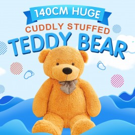 1.4m Giant Soft Teddy Bear Light Brown