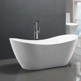 Bathroom Acrylic Free Standing Bath Tub Thin Edge 1800 x 800 x 720 Freestanding (Tender & Curve)