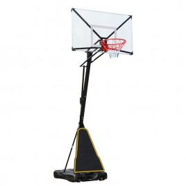 54 inch Portable Basketball Ring System Slam Dunk Height Adjustable 2.45m-3.05m with Stand Ring Net