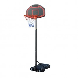 Adjustable Portable Height Junior Kids Basketball Stand System Net Ring Hoop Set Black