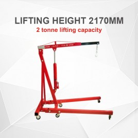 2 Tonne Folding Hydraulic Engine Workshop Crane Hoist Lift