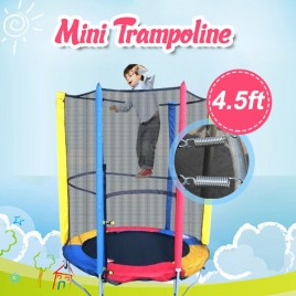 4.5ft Mini Trampoline & Enclosure Set For Indoor and Outdoor
