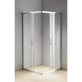 Shower Screen 800x800x1900mm Safety Glass Sliding Door #1806-8X8