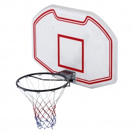Wall Mounted Basketball 90x60cm Backboard Adjustable 2.1-2.6m