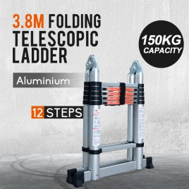 3.8M Multi-Purpose Aluminium Telescopic Extension Ladder