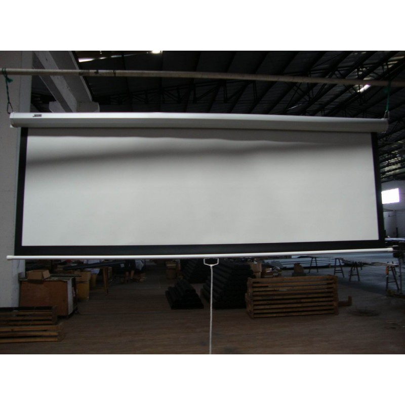 120 Inch 16 9 Manual Pull Down Projector Screen With Auto