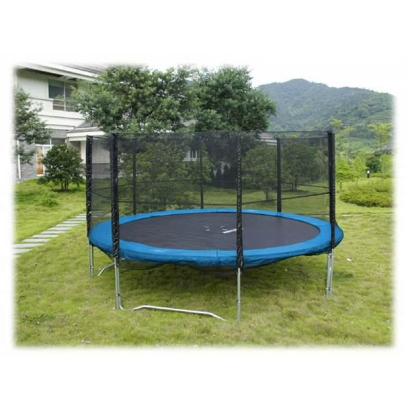 12 Feet Outdoor Trampoline Enclosure Set With Safety Net