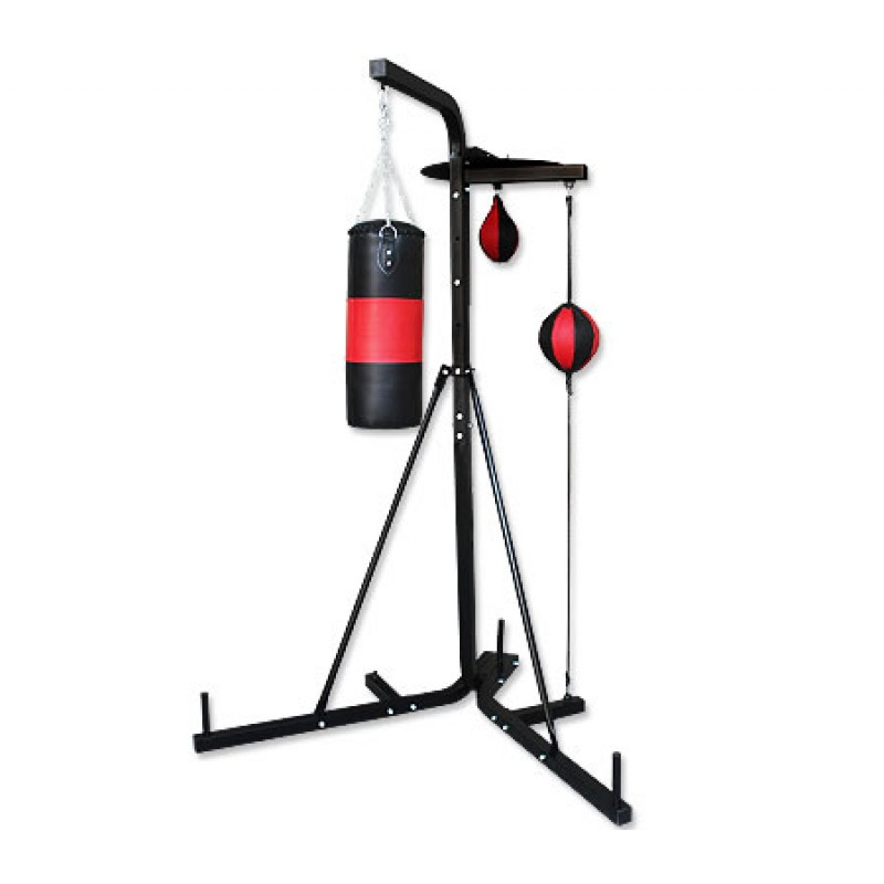 Multi Station Boxing Stand With Punching Bag Speed Ball