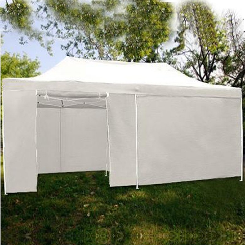 3mX6m Folding Gazebo Marquee Pop Up Outdoor Canopy White