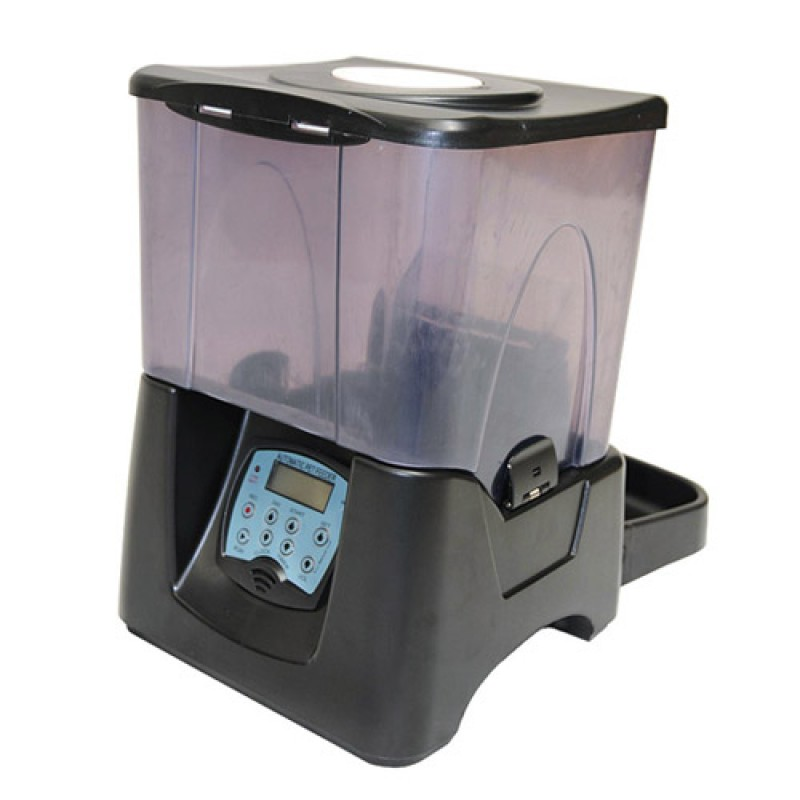 10L Large Automatic Digital Pet Feeder for Cat Dog Rabbit Black