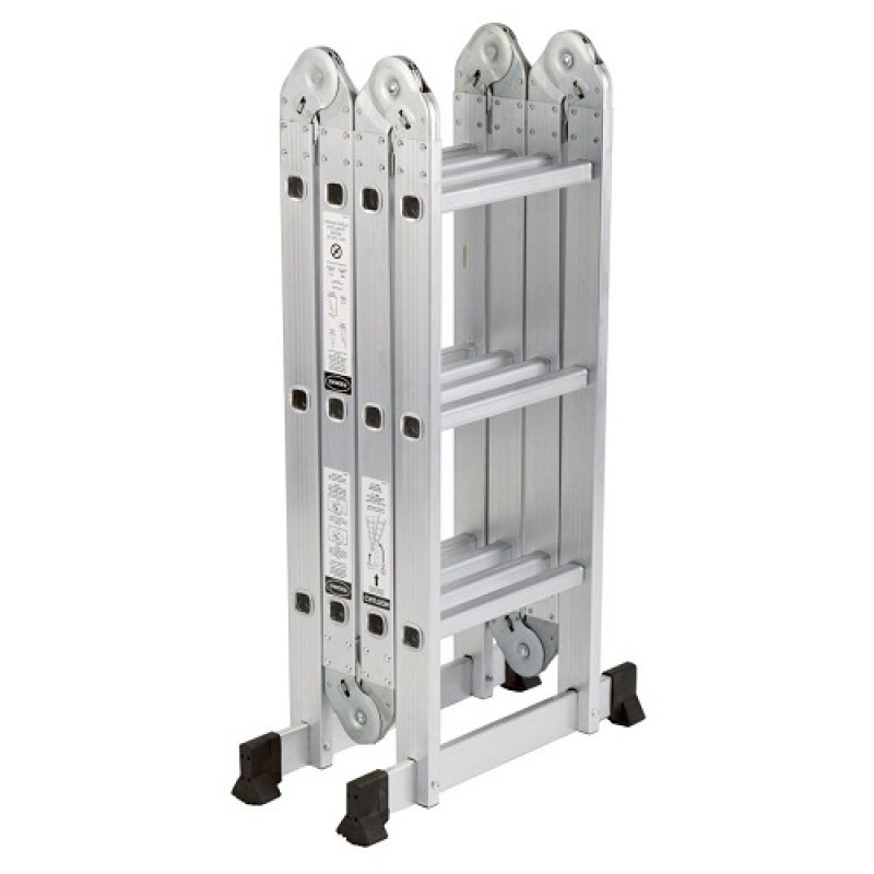 Adjustable aluminium extension multi purpose ladder 3 7 for Escalera plegable homecenter