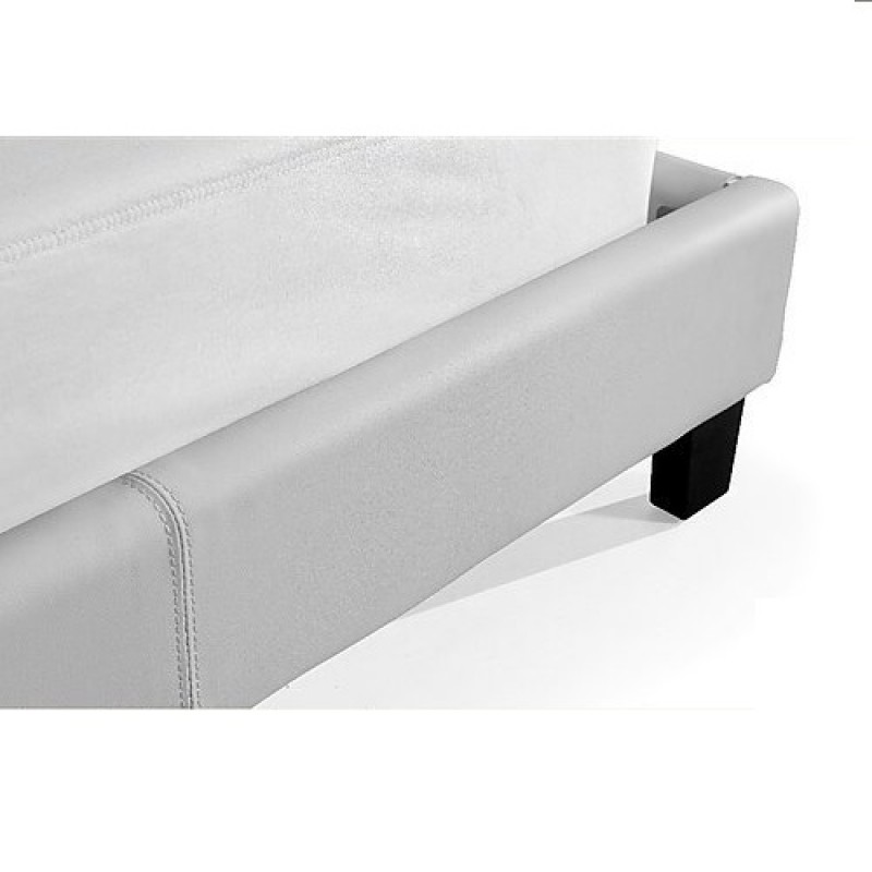 Leather Bed Frame White - Frame