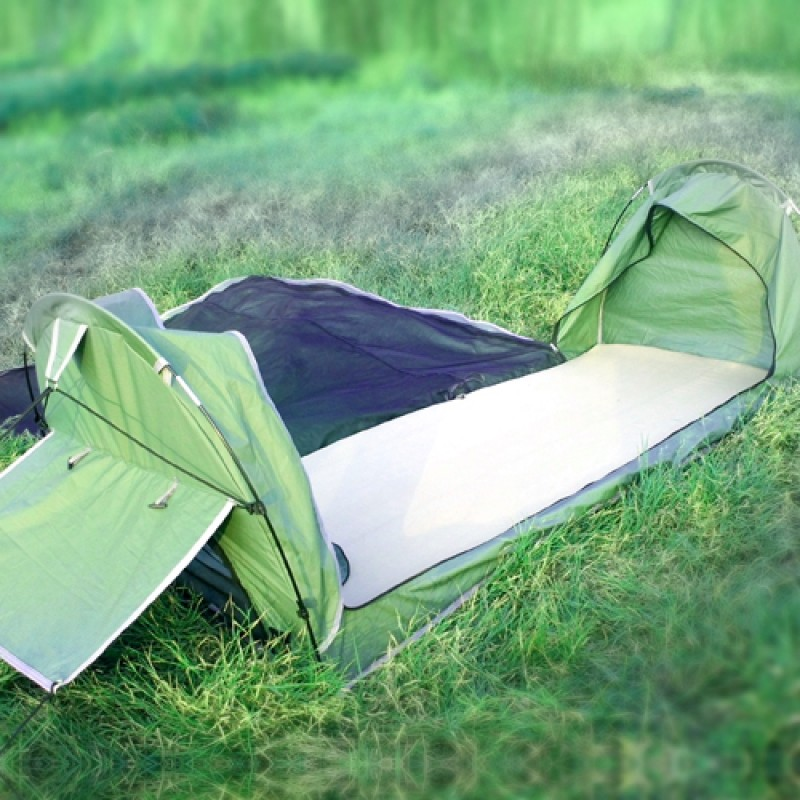 Single Camping Deluxe Dome Canvas Swag Tent